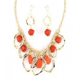 Petra Bib Necklace Set.