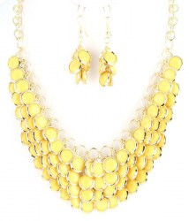 Lena Bib Necklace Set
