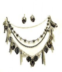 Jen Multi Strand Necklace Set