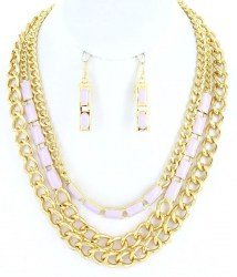 Shari Chain Link Necklace Set