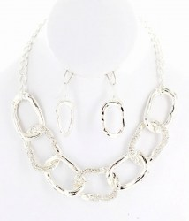 Sonia Chain Link Necklace Set