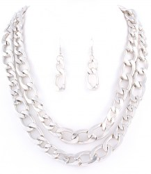 Cora Chain Link Necklace Set