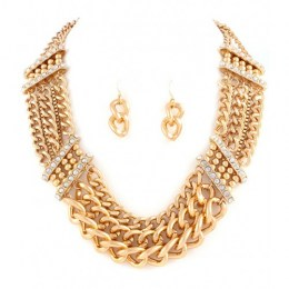 Terri Chain Link Necklace Set.