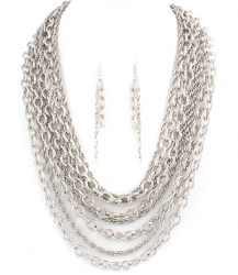 Avril Chain Link Necklace Set