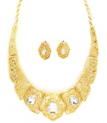 Kristy Crescent Necklace Set