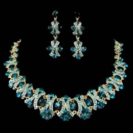 Hilda Crystal Necklace Set