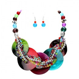 Lacene Bead Necklace Set