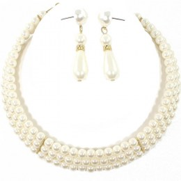 Laciann Pearl Necklace Set