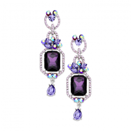 Elizabeth Crystal Earrings