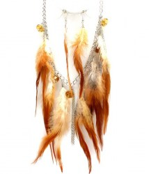Willow Feather Necklace Set