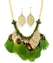 Ursula Feather Necklace Set