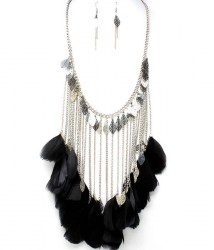 Bree Feather Necklace Set