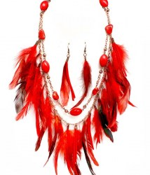 Helena Feather Necklace Set