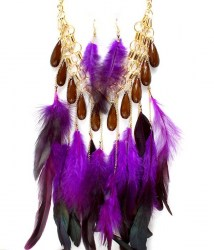 Gena Feather Necklace Set