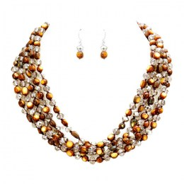 Ghita Bead Necklace Set