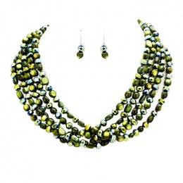 Marcellia Bead Necklace Set