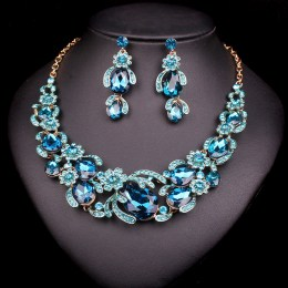 Gretchen Crystal Necklace Set