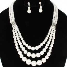 Elena Faux Pearl Necklace Set,