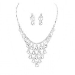 Carla Rhinestone Necklace Set