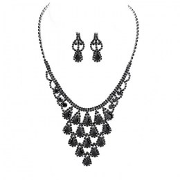 Alba Rhinestone Necklace Set