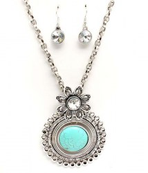 Denise Turquoise Necklace Set