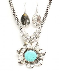 Judy Turquoise Necklace Set