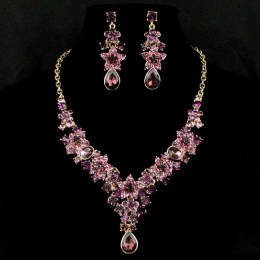 Hedda Crystal Necklace Set