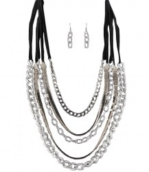Fabiola Chain Link Necklace Set