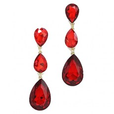 Adalie Crystal Tear Drop Earrings