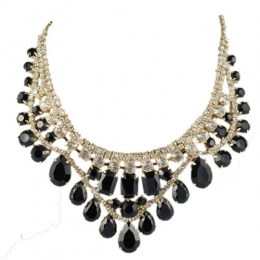 Kobi Black Beauty Fashion Necklace 2