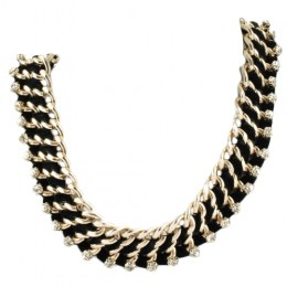 Cleo Black Beauty Fashion Necklace 1