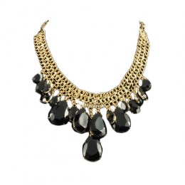 Octavia Black Beauty Fashion Necklace 1