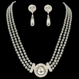 Selena Faux Pearl Necklace Set.