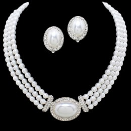 Nia Faux Pearl Necklace Set