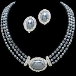 Jillian Faux Pearl Necklace Set.