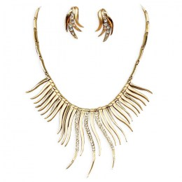 Ariele Crescent Necklace Set