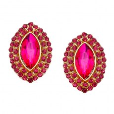 Moniqua Crystal Post Earrings