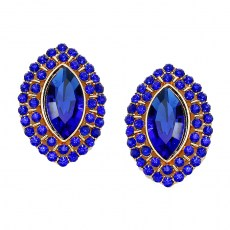 Leonora Crystal Post Earrings