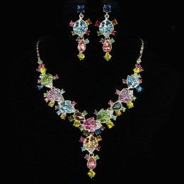 Orla Crystal Necklace Set.