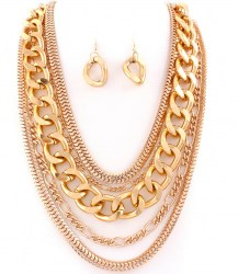 Mandy Chain Link Necklace Set