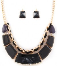 Delaney Crescent Necklace Set
