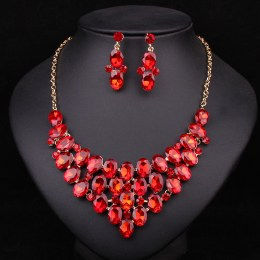 Quenby Crystal Necklace Set