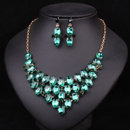 Sheba Crystal Necklace Set