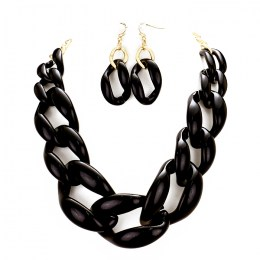 Nathalie Chain Link Necklace Set