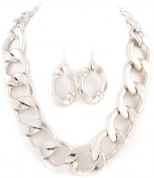 Karlee Chain Link Necklace Set