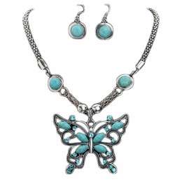 Lydie Turquoise Necklace Set.