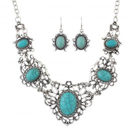 Ambra Turquoise Necklace Set