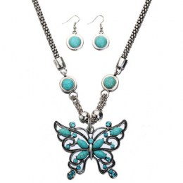 Lydie Turquoise Necklace Set.1
