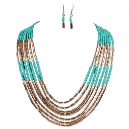 Antonia Bead Necklace Set