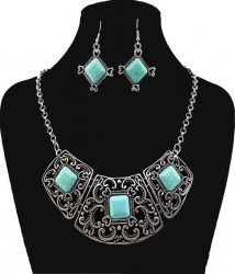 Shea Turquoise Necklace Set 2